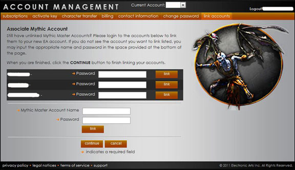 Ultima Online Linking Accounts