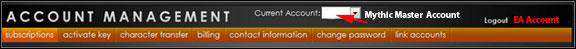 Ultima Online Account Management