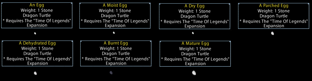 Chicken Lizards & Dragon Turtle Hatchlings – Ultima Online
