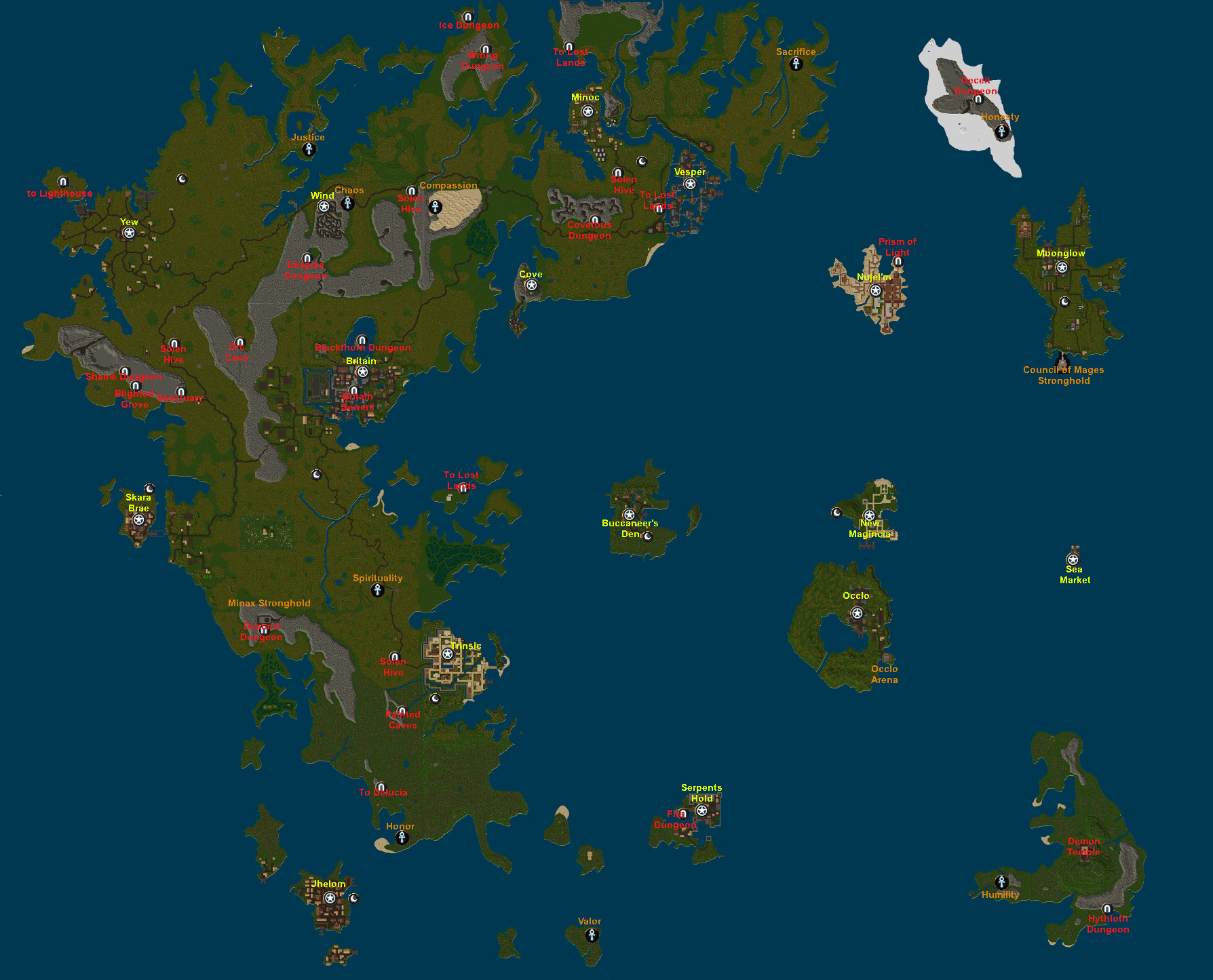 Uo Interactive Map Facet Maps – Ultima Online Uo Interactive Map